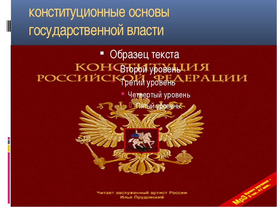 конституционные основы государственной власти