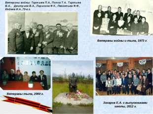 Захаров Е.А. с выпускниками школы, 2012 г. Ветераны войны и тыла, 1973 г. Вет