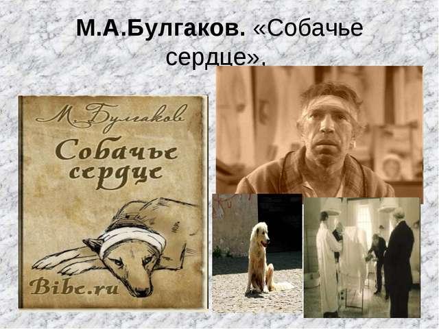 М.А.Булгаков. «Собачье сердце»,