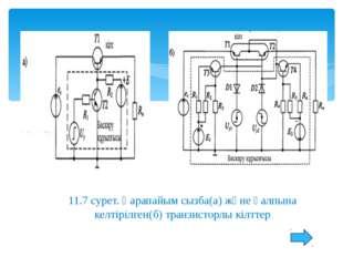 11.9 б) сурет. Оқшауланған бекітпемен өрістік транзистор кілтінің сызбасы Р-т