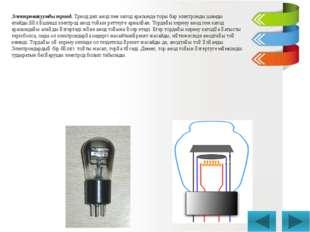 Электровакуумды триод. Триод деп анод пен катод арасында торы бар электронды