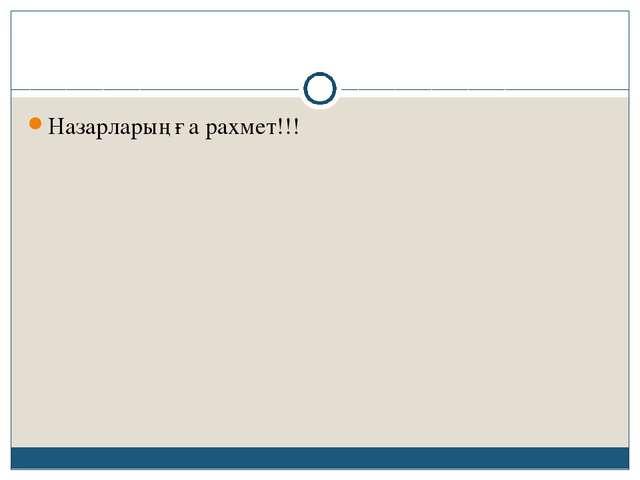 Назарларыңға рахмет!!!