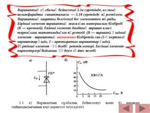 Варикаптың сұлбалық бейнеленуі 3.1а суретінде, ал оның вольтфарадты сипаттам