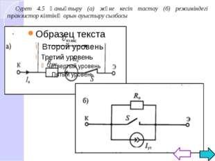 Транзистор кілтінің сөндіру мен қосу үрдістері 4.6 суретінде көрсетілген. Тр
