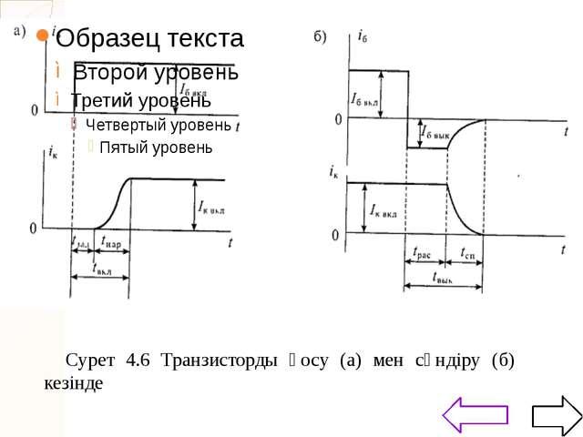 Бұл сызбанұсқа 4.8 а суретінде көрсетілген және транзистордың күшейткіш қаси...