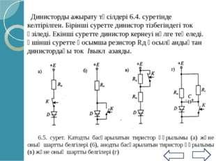 10862-72 МТЖК сәйкес орташа ток күші 20А аспайтын импульстық тиристорлар 4 э