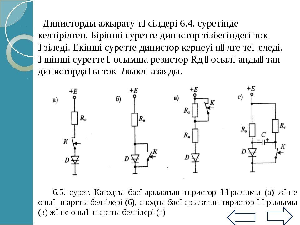 10862-72 МТЖК сәйкес орташа ток күші 20А аспайтын импульстық тиристорлар 4 э...