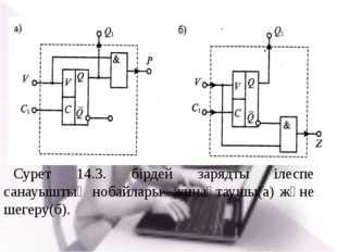 Сурет 14.3. бірдей зарядты ілеспе санауыштың нобайлары жинақтаушы(а) және шег