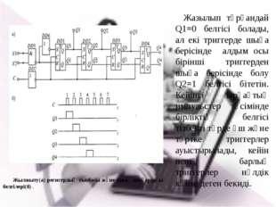 Жылжыту(а) регистрдың сызбасы және оның шығардағы белгілері(б) . Жазылып тұр
