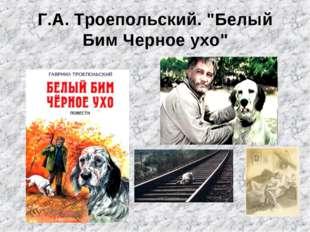 """Г.А. Троепольский. """"Белый Бим Черное ухо"""""""