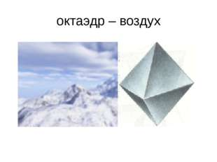 октаэдр – воздух
