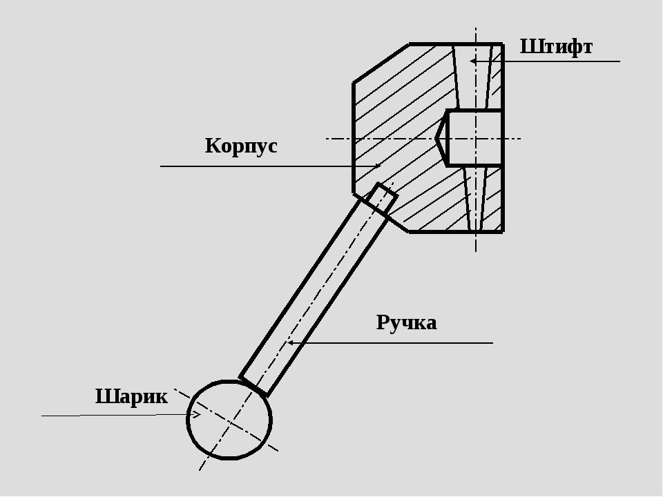 Корпус Ручка Штифт Шарик