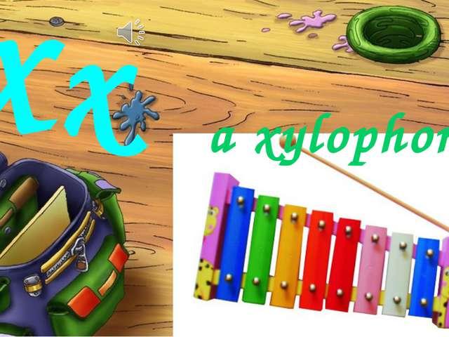 Xx a xylophone