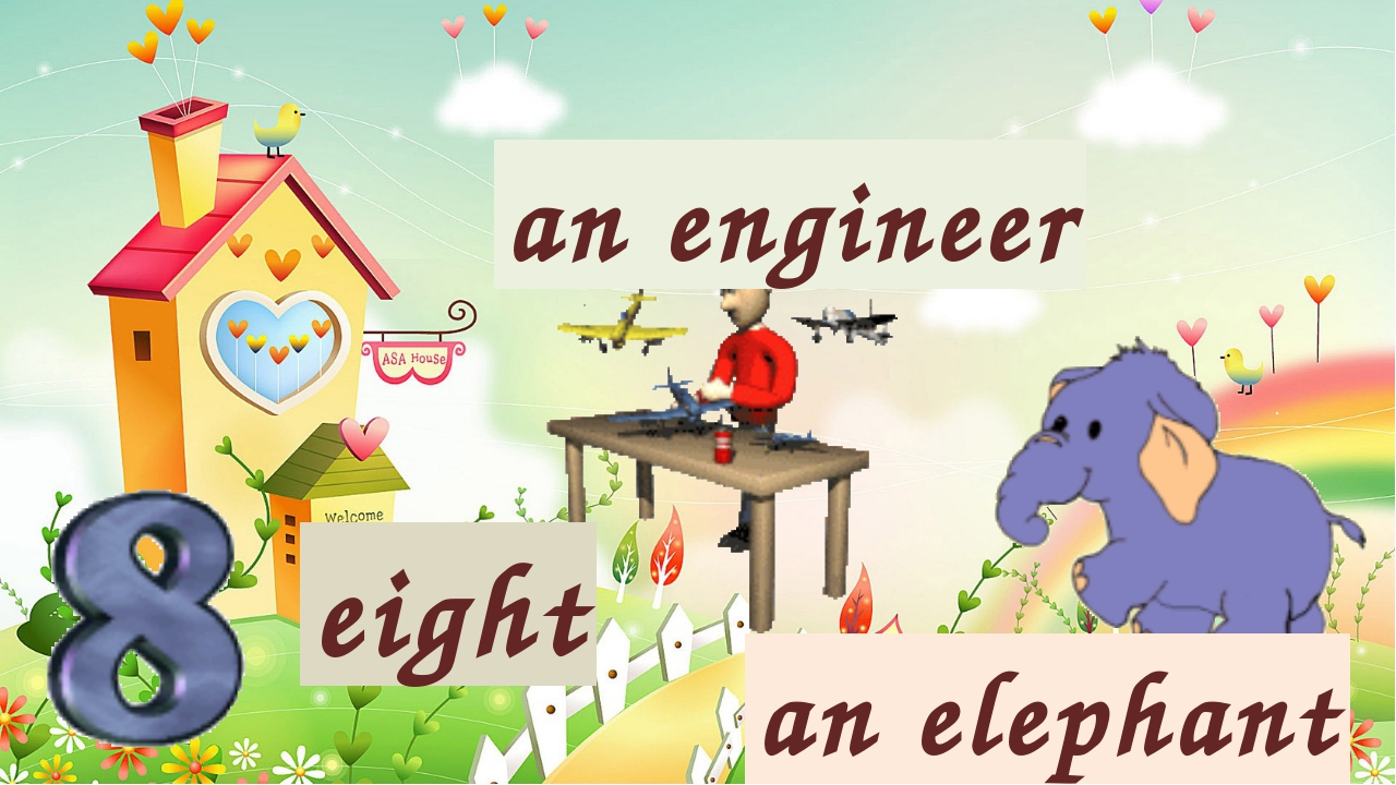 an elephant an engineer eight