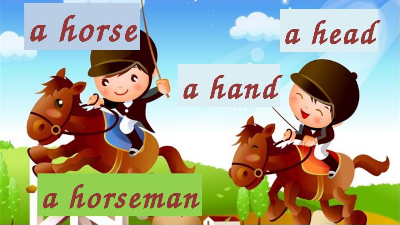 a horse a hand a head a horseman