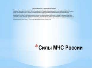 Силы МЧС России Центр управления в кризисных ситуациях Когда возникает чрезв