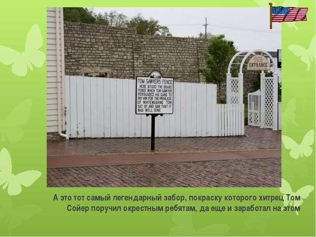 А это тот самый легендарный забор, покраску которого хитрец Том Сойер поручи...