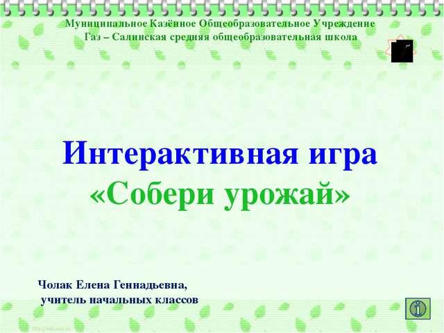 Муниципальное Казённое Общеобразовательное Учреждение Газ – Салинская средняя...