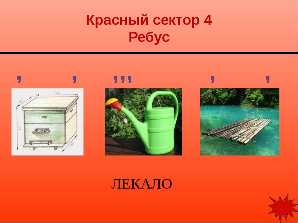 Красный сектор 5 Ребус ФАСКА ,, ,