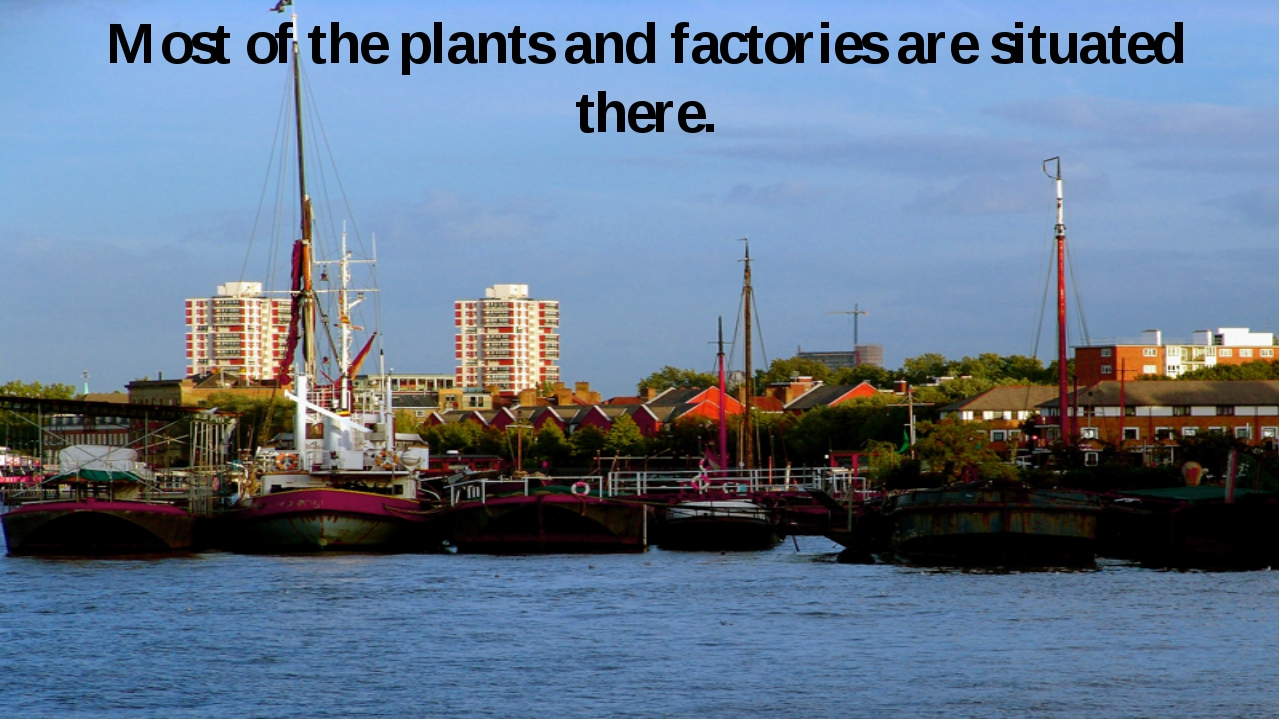 Most of the plants and factories are situated there.