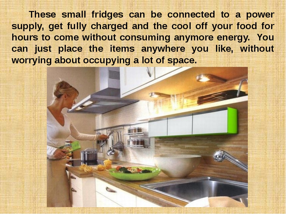 These small fridges can be connected to a power supply, get fully charged a...