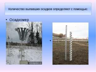 Осадкомер Снегомерная рейка Количество выпавших осадков определяют с помощью: