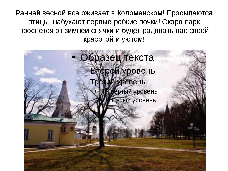 Ранней весной все оживает в Коломенском! Просыпаются птицы, набухают первые р...