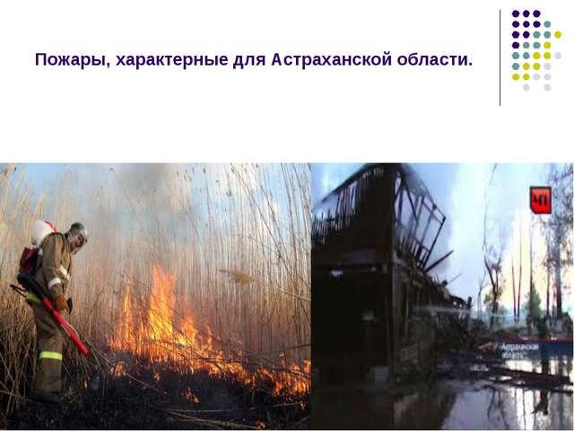 Пожары, характерные для Астраханской области.