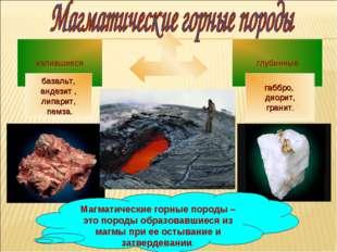 Магматические горные породы – это породы образовавшиеся из магмы при ее остыв