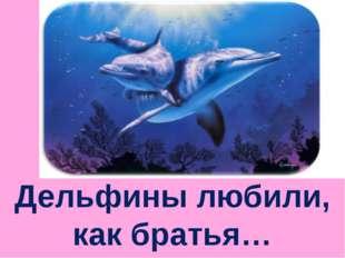 Дельфины любили, как братья…