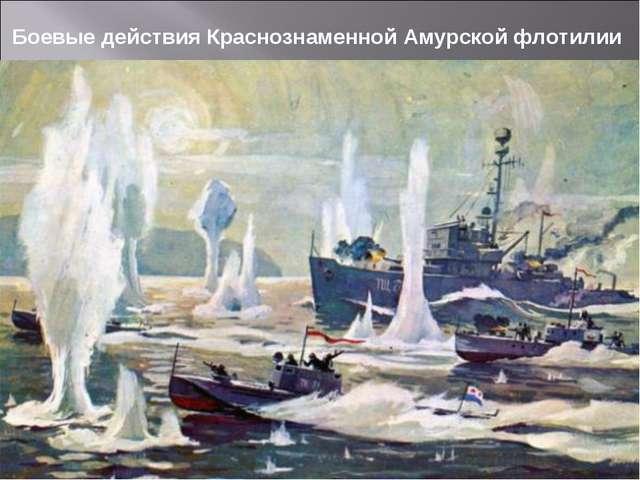 Боевые действия Краснознаменной Амурской флотилии