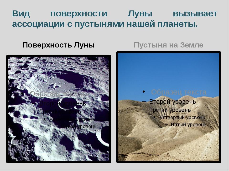Вид поверхности Луны вызывает ассоциации с пустынями нашей планеты. Поверхнос...