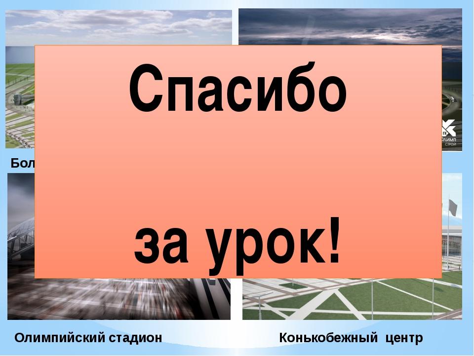 Большая ледниковая арена Малая ледниковая арена Конькобежный центр Олимпийски...