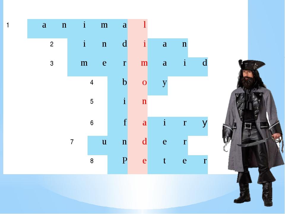 1 a n i m a l 2 i n d i a n 3 m e r m a i d 4 b o y 5 i n 6 f a i r y 7 u n...
