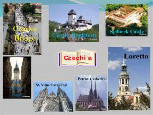 Czechia St. Vitus Cathedral Loretto Old Town Hall Charles Bridge Castle Karls
