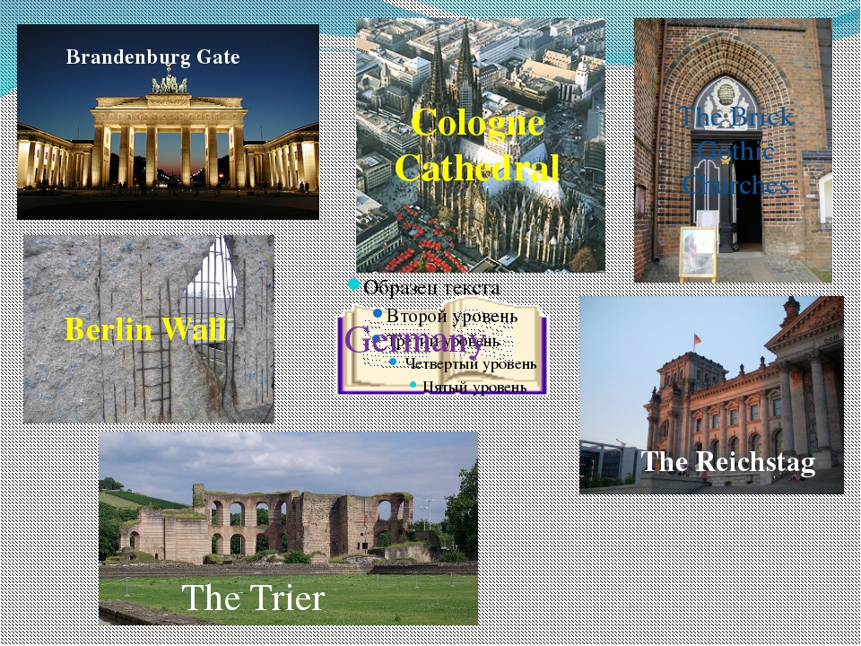 Germany Brandenburg Gate Cologne Cathedral Berlin Wall The Reichstag The Bric...