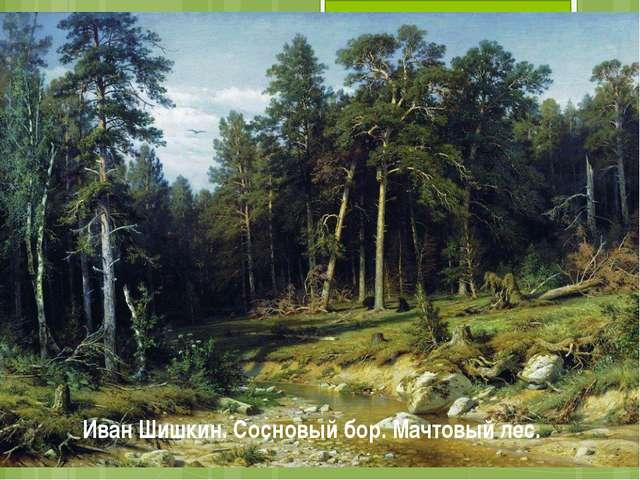 Иван Шишкин. Сосновый бор. Мачтовый лес.