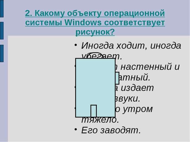 2. Какому объекту операционной системы Windows соответствует рисунок? Иногда...