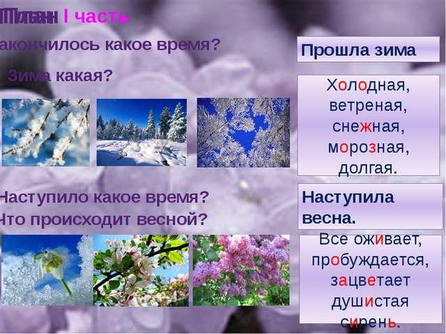 План 2. О чем говорится во 2 части? II часть Весной Петр Ильич Чайковский нап...
