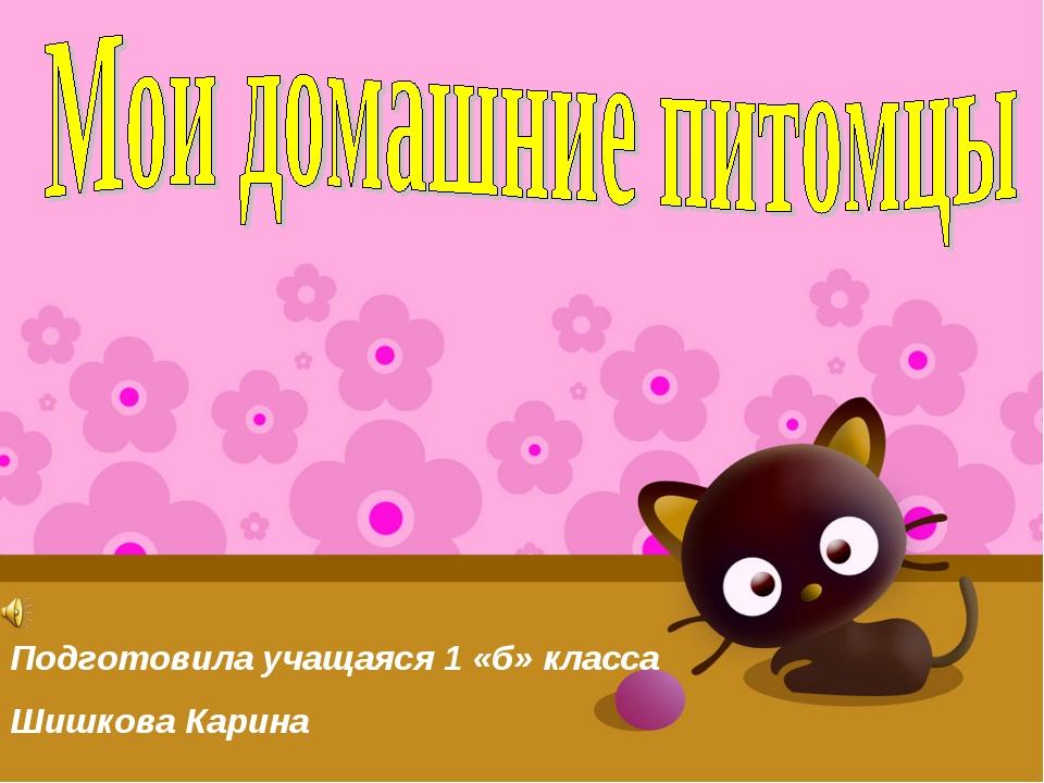 Подготовила учащаяся 1 «б» класса Шишкова Карина