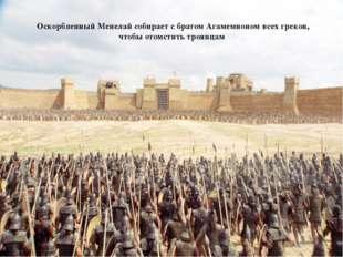 Оскорбленный Менелай собирает с братом Агамемноном всех греков, чтобы отомст