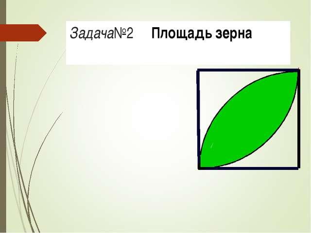 Задача№2 Площадь зерна