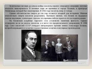 Методическая разработка урока литературы Танашевич А. А. За несколько месяцев