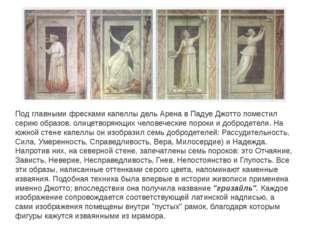 Под главными фресками капеллы дель Арена в Падуе Джотто поместил серию образо