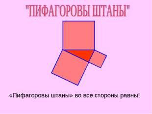 «Пифагоровы штаны» во все стороны равны!