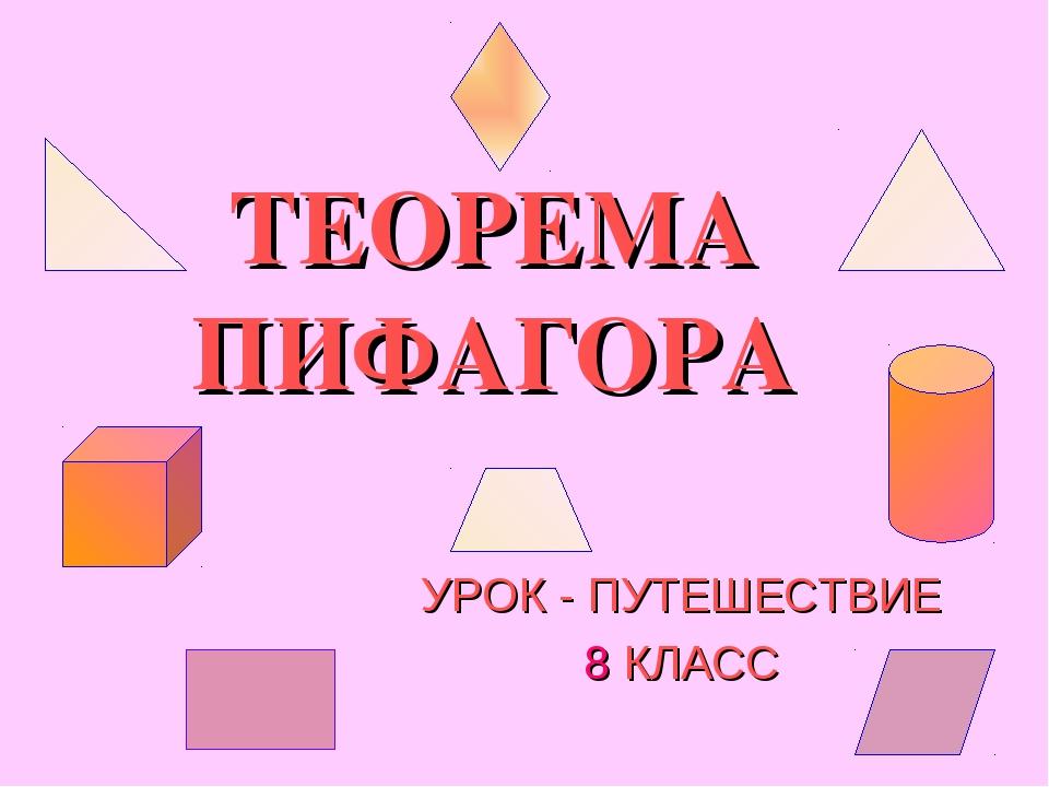 ТЕОРЕМА ПИФАГОРА УРОК - ПУТЕШЕСТВИЕ 8 КЛАСС