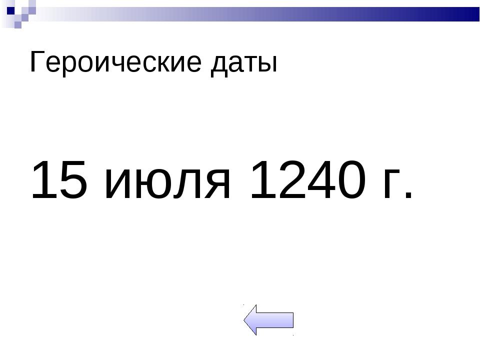 Героические даты 15 июля 1240 г.
