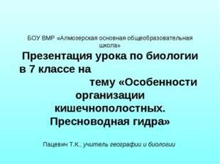 БОУ ВМР «Алмозерская основная общеобразовательная школа» Презентация урока п