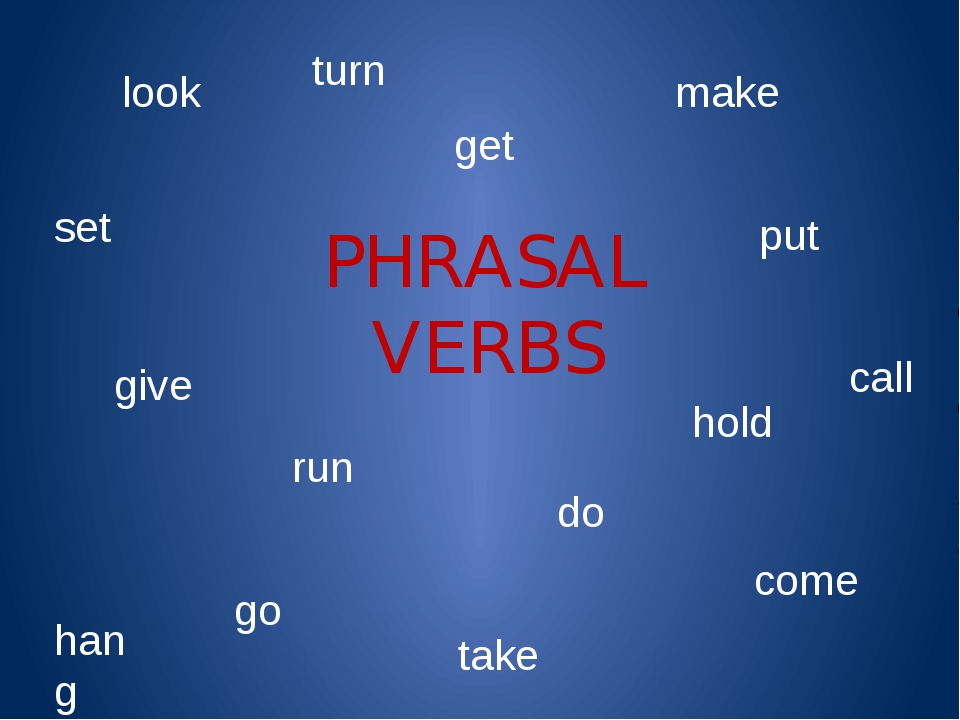 PHRASAL VERBS look get give do make hang call run take set come put turn hold...