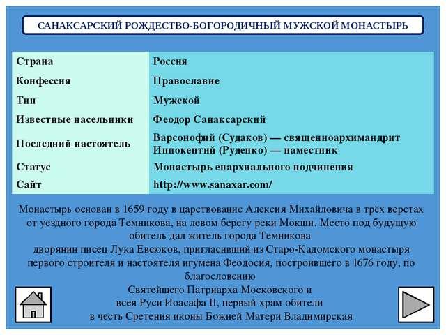 КРАСНОСЛОБОДСКИЙ СПАСО-ПРЕОБРАЖЕНСКИЙ МУЖСКОЙ МОНАСТЫРЬ Основан в 1655 году...